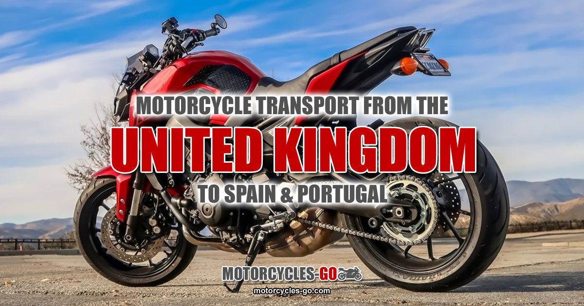 Motorcycle Transport from the UK to Spain & Portugal OG01